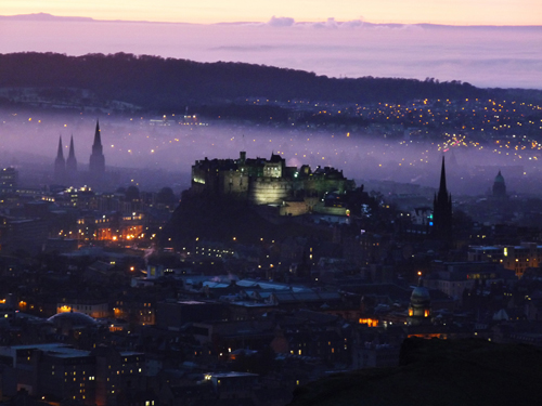 Purple Haze Over Edinburgh Castle