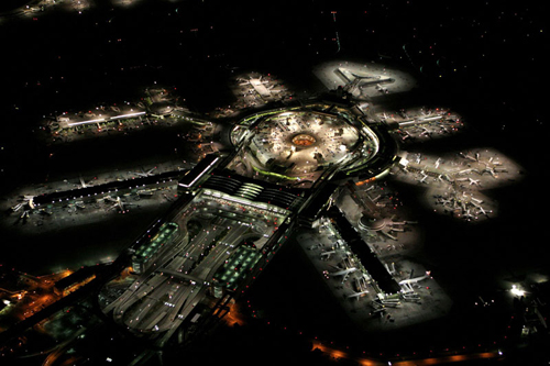 San Francisco Airport At Night