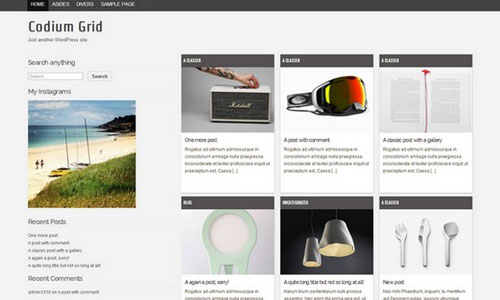 WordPress Theme Codium Grid