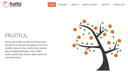 WordPress Theme Fruitful