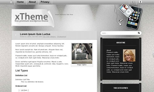 WordPress Theme XTheme